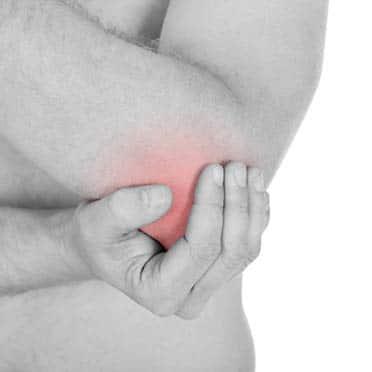 Ellenbogenschmerzen beim Tennisarm