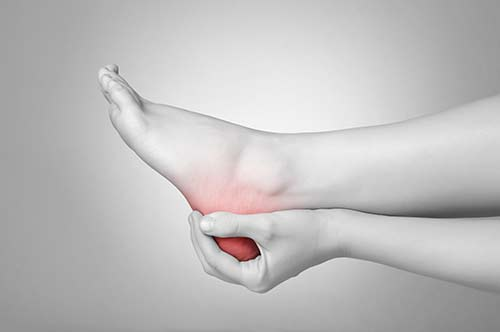 Schmerzen am Fuß bei Fersensporn