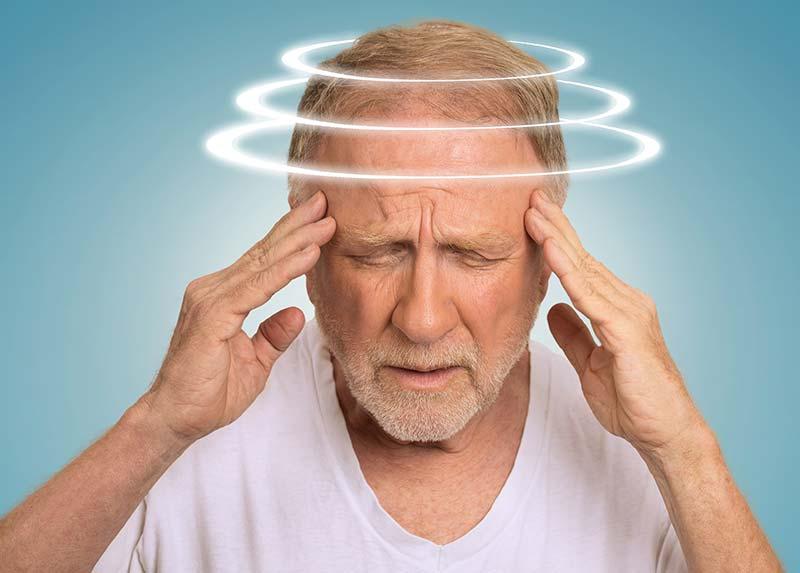 Schwindel und Kopfschmerzen bei Nackenschmerzen