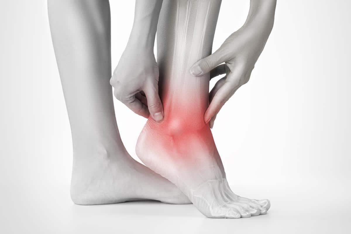 Darstellung von Schmerzen am Fuß